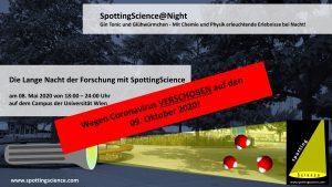 VERSCHOBEN: Lange Nacht der Forschung
