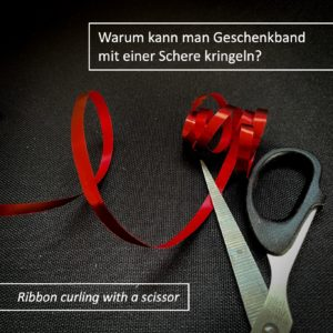 Warum kringelt Geschenkband?